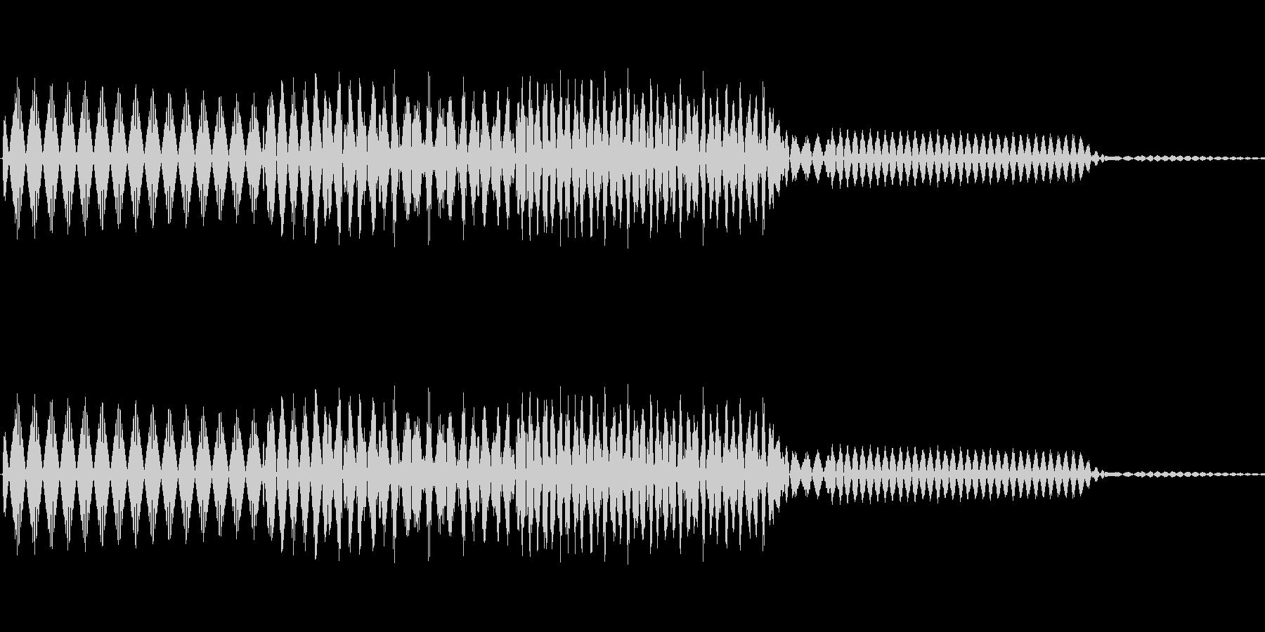 ボタン決定音システム選択タッチ登録C09の未再生の波形