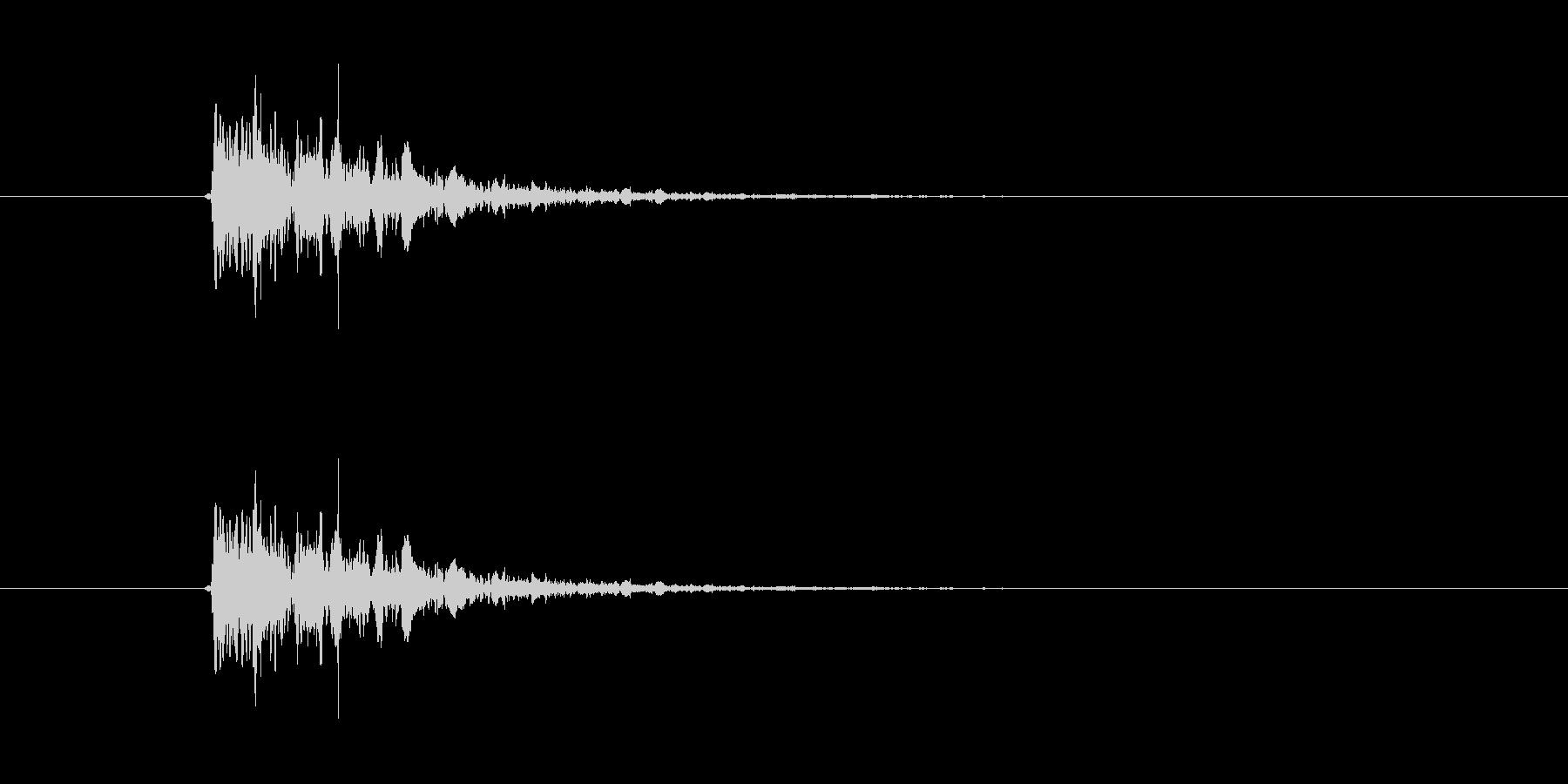 キュルキュル(宇宙、落下、回転)の未再生の波形