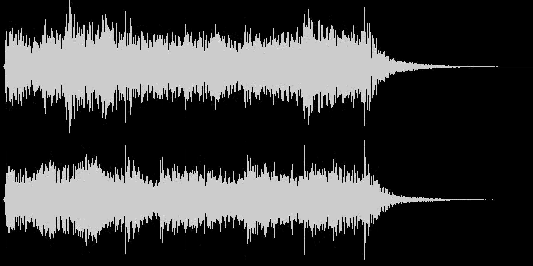 映像用BGM_ショッキング1の未再生の波形