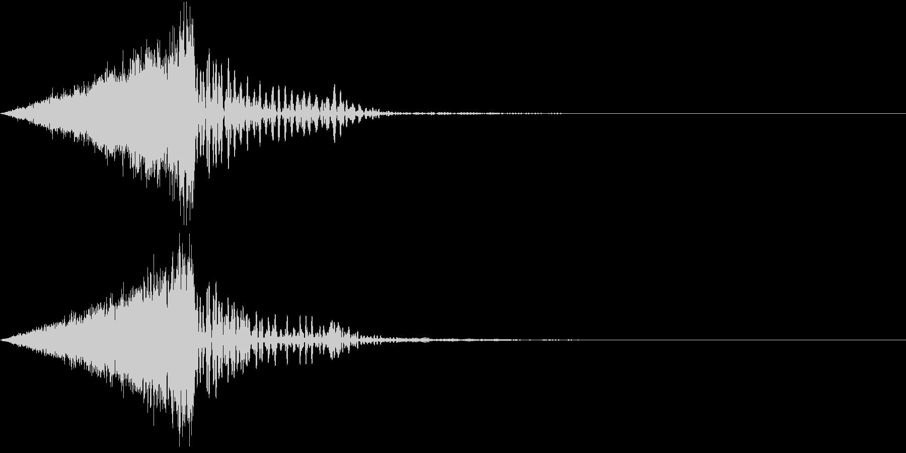 電気がほとばしる音の未再生の波形
