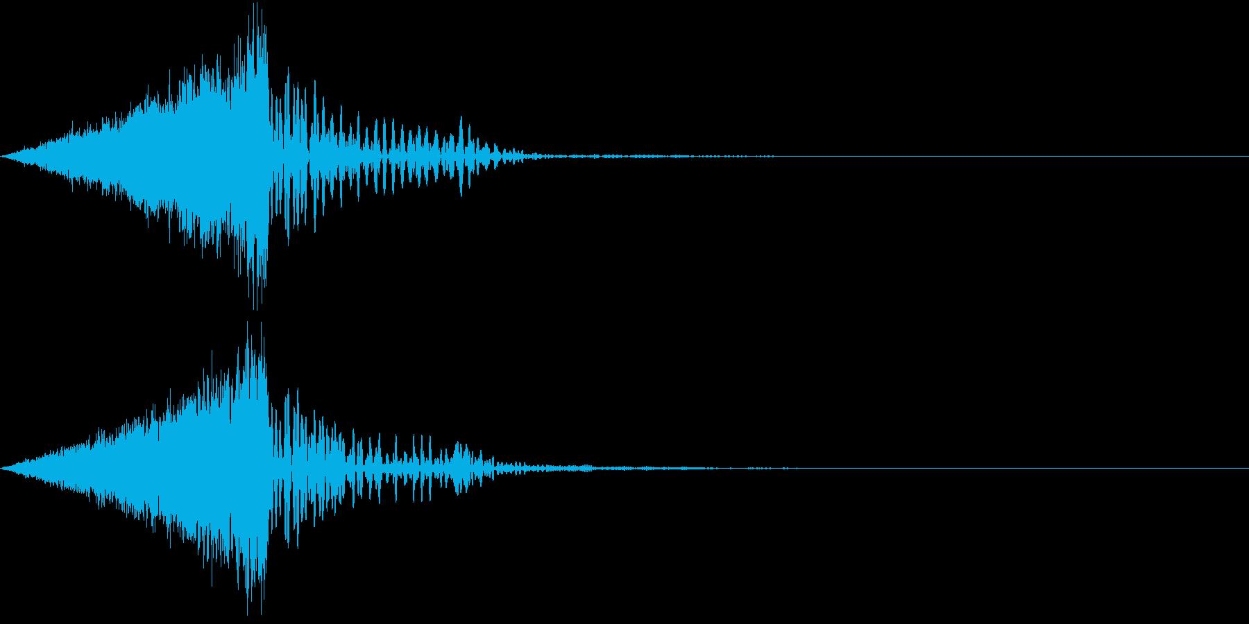 電気がほとばしる音の再生済みの波形