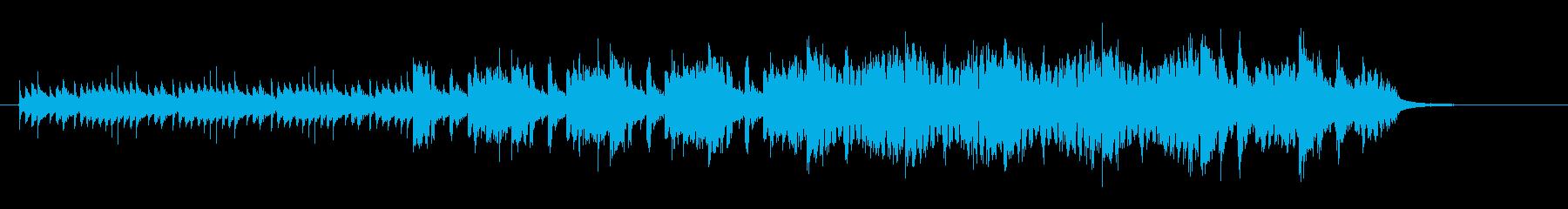 チューブラーベルとストリングスのテクノの再生済みの波形