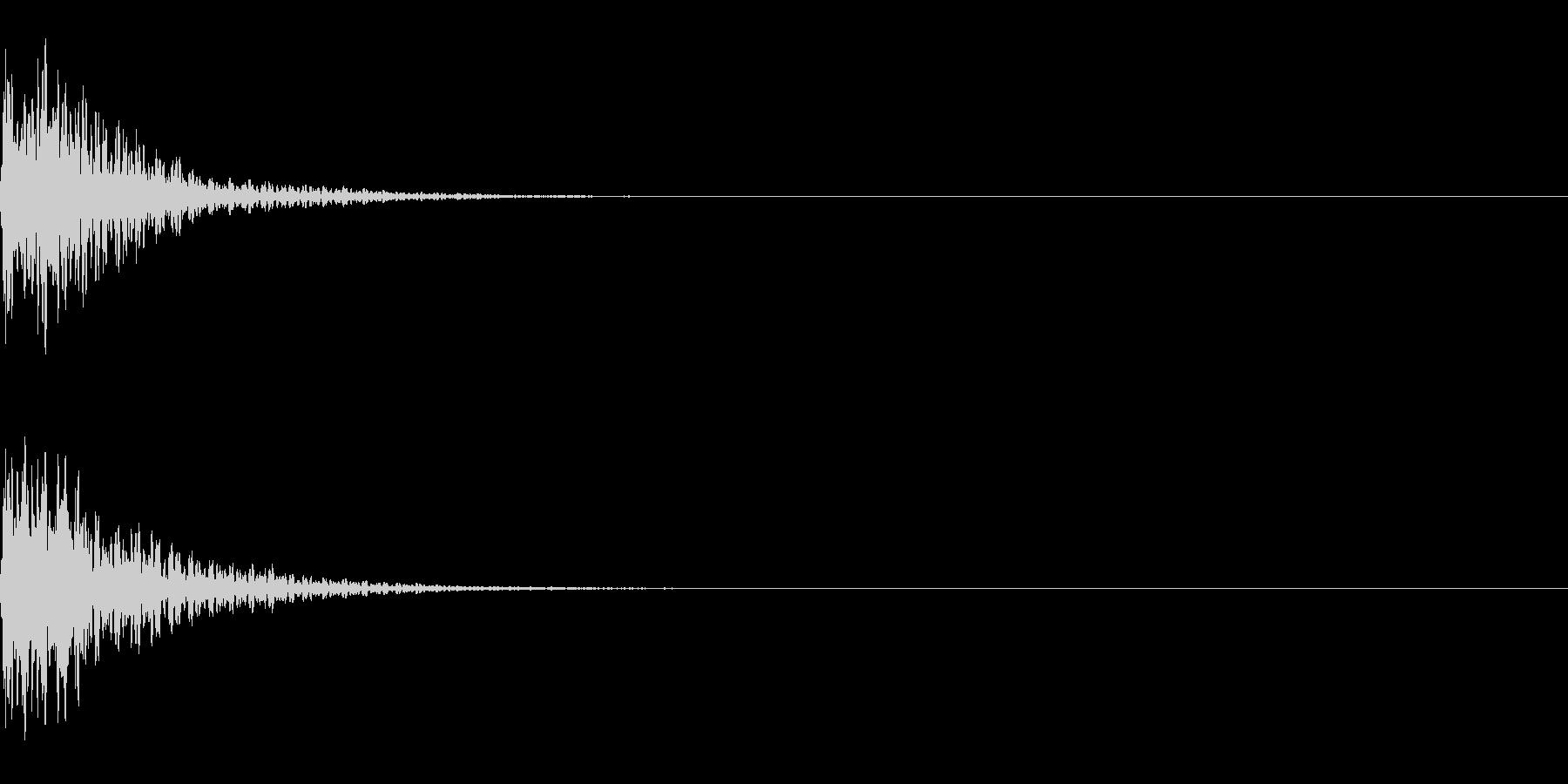 マイナー系和音~テロップ音~の未再生の波形
