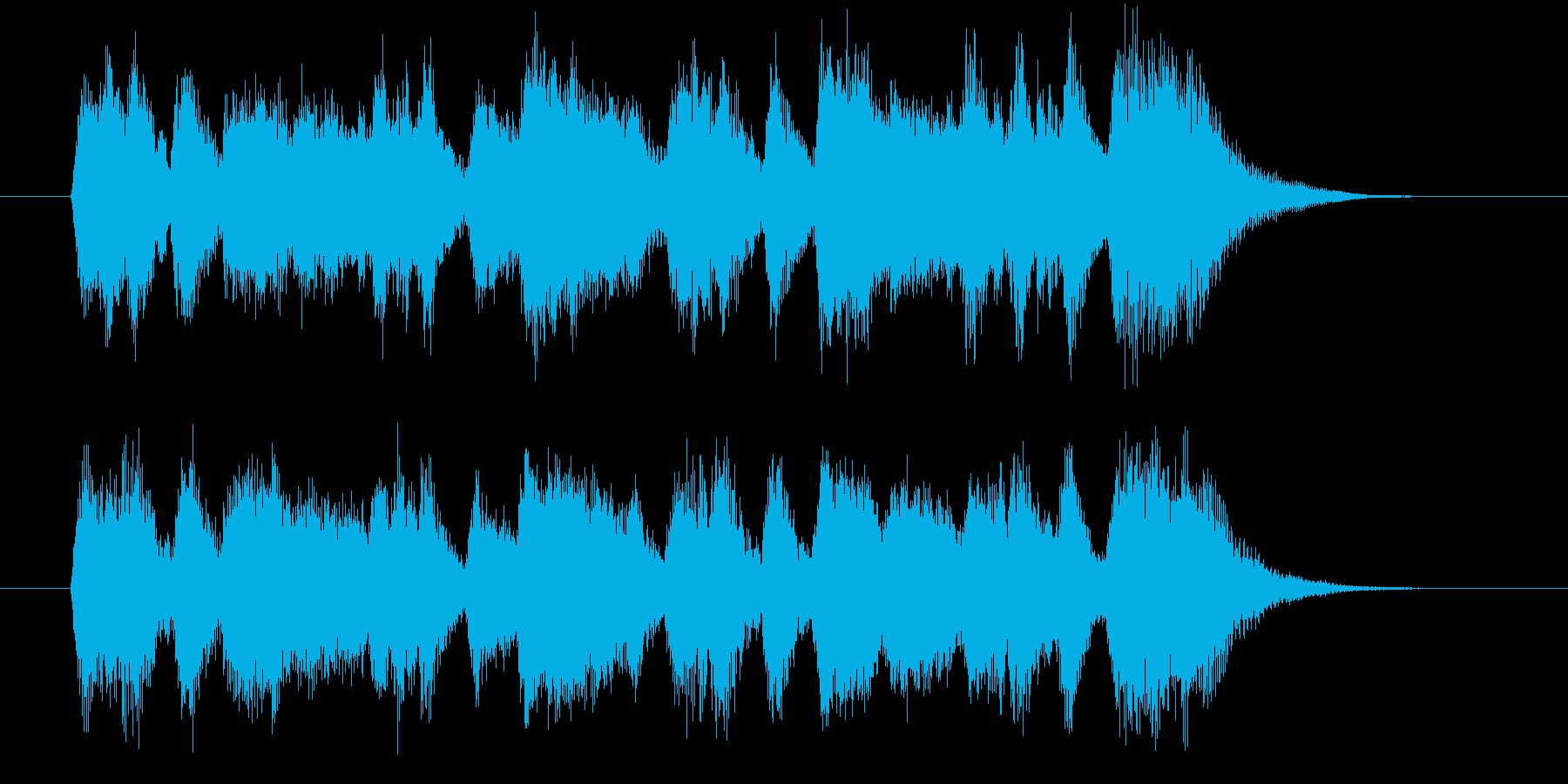 豪華で美しいシンセオルガンサウンドの再生済みの波形