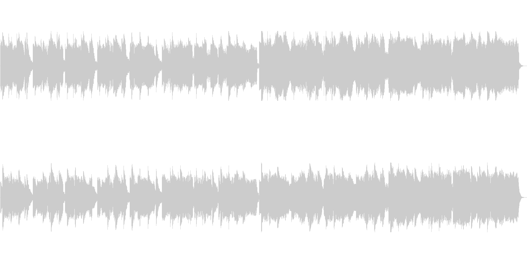 ゆったりとしたクラシック風ポップスの未再生の波形