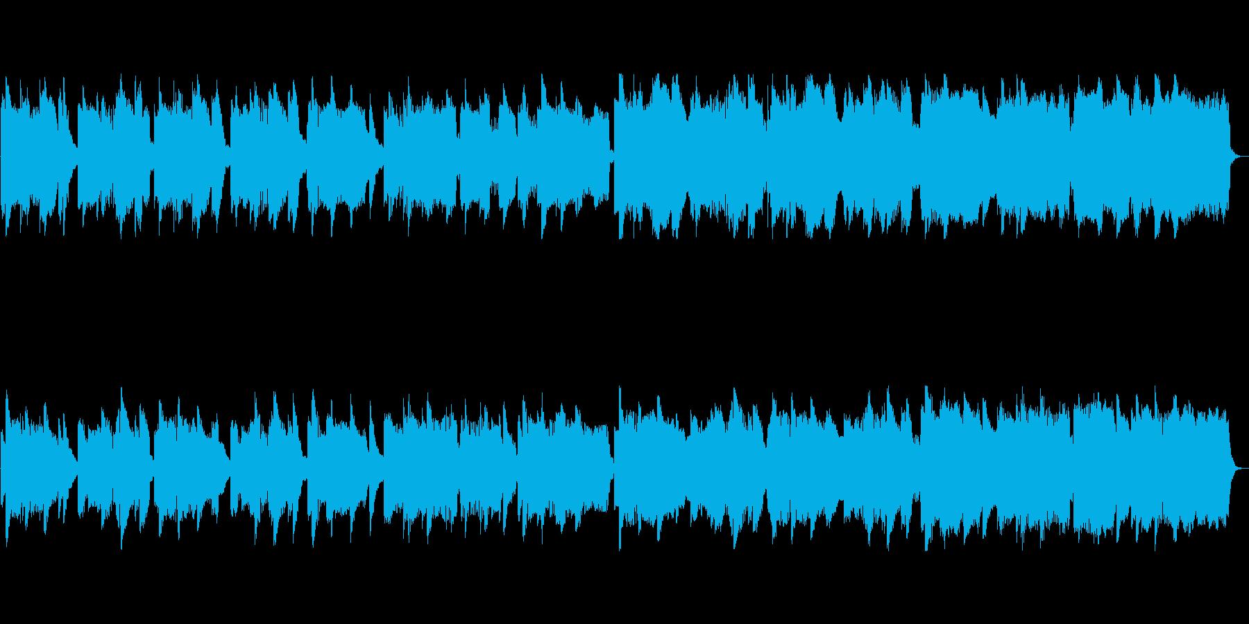 ゆったりとしたクラシック風ポップスの再生済みの波形