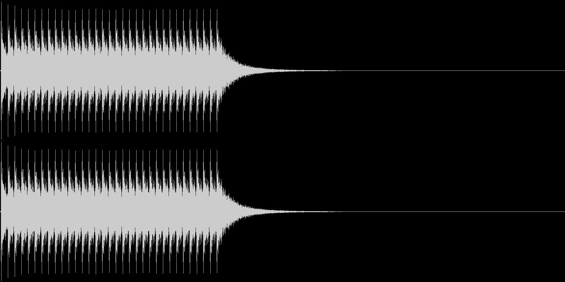 ジリリリ。非常ベルA(低)の未再生の波形