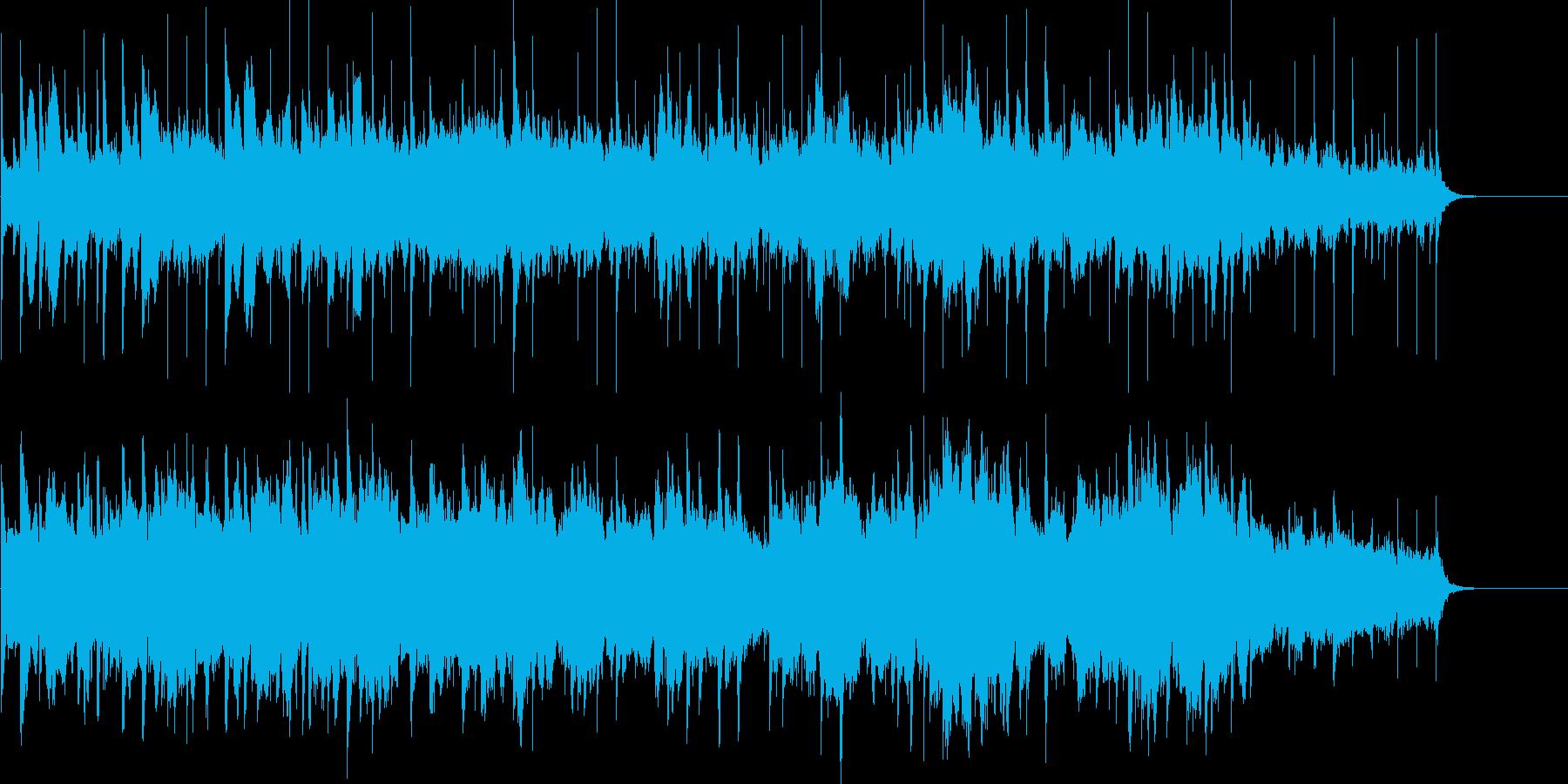 シンセサイザーによるほのぼの近未来ポップの再生済みの波形