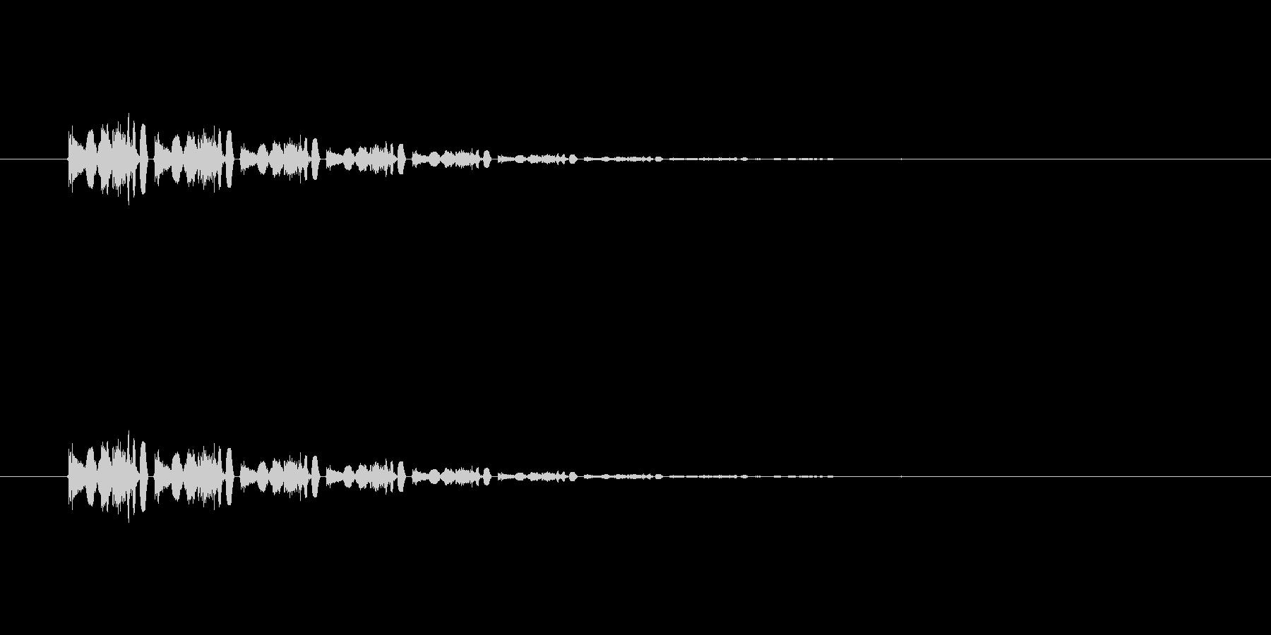 【アクセント31-6】の未再生の波形