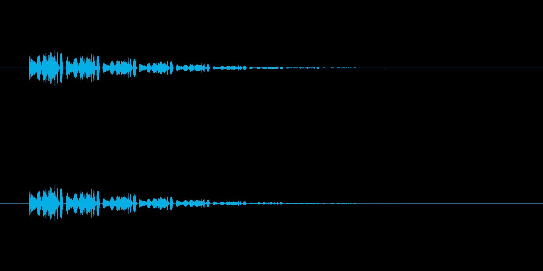 【アクセント31-6】の再生済みの波形
