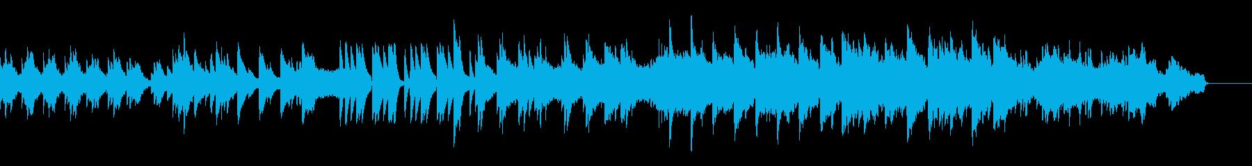 ゆっくり落ち着いたヒーリング系の曲の再生済みの波形