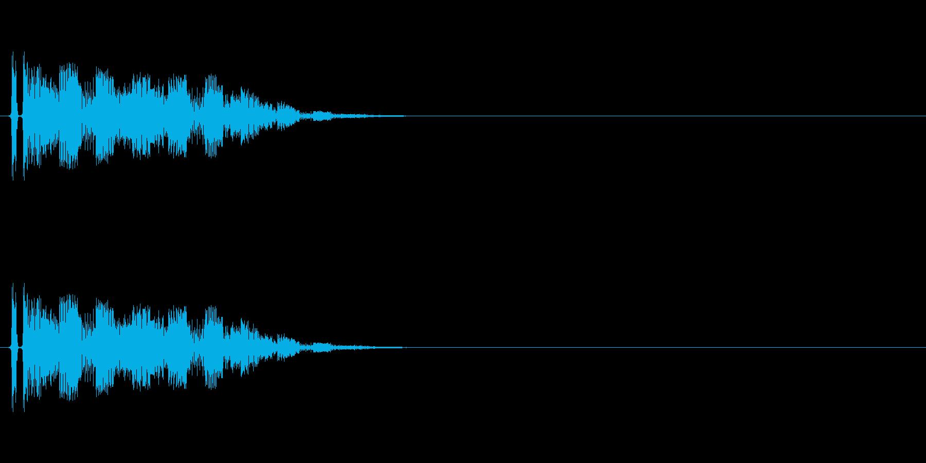 トゥリーン(ゲームSEっぽいシンセ音)の再生済みの波形