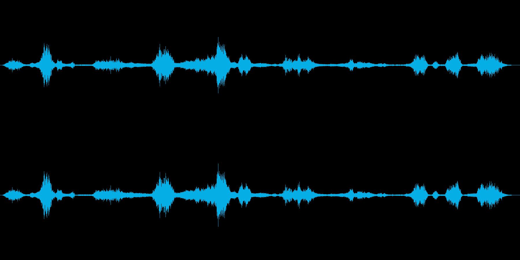 風の音(ヒューヒュー)の再生済みの波形