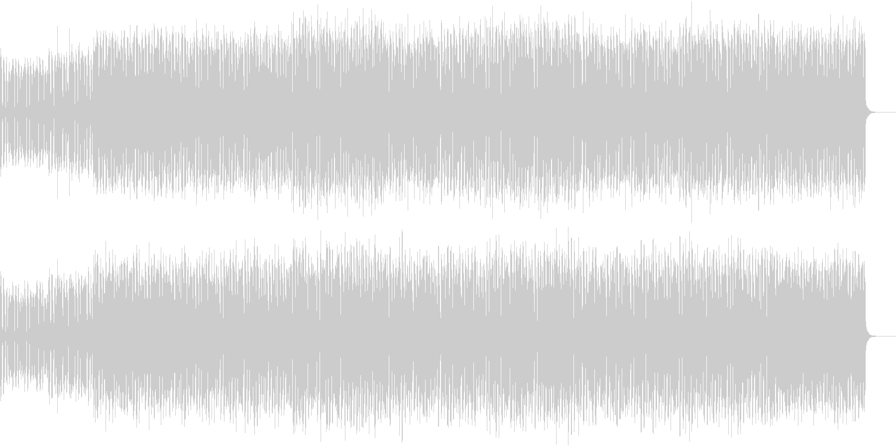 コミカルなメロディのエクササイズダンスの未再生の波形