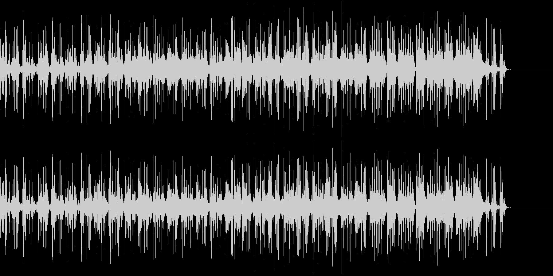 Jazzのピアノトリオ編成の速い曲ですの未再生の波形