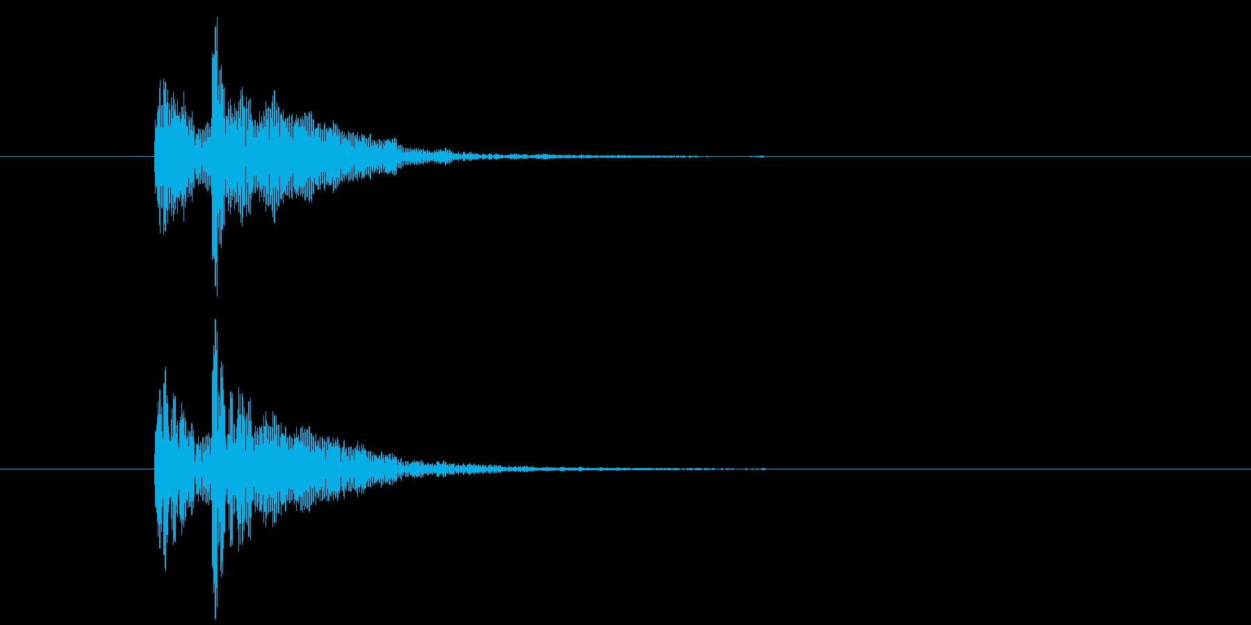 ドドン(中太鼓の少し低い音)の再生済みの波形