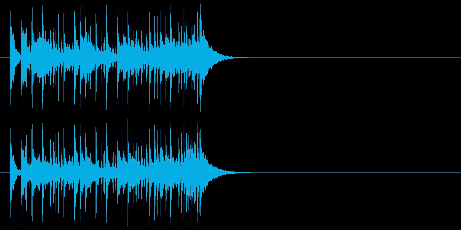 わくわくするシンセのラテン系ジングルの再生済みの波形