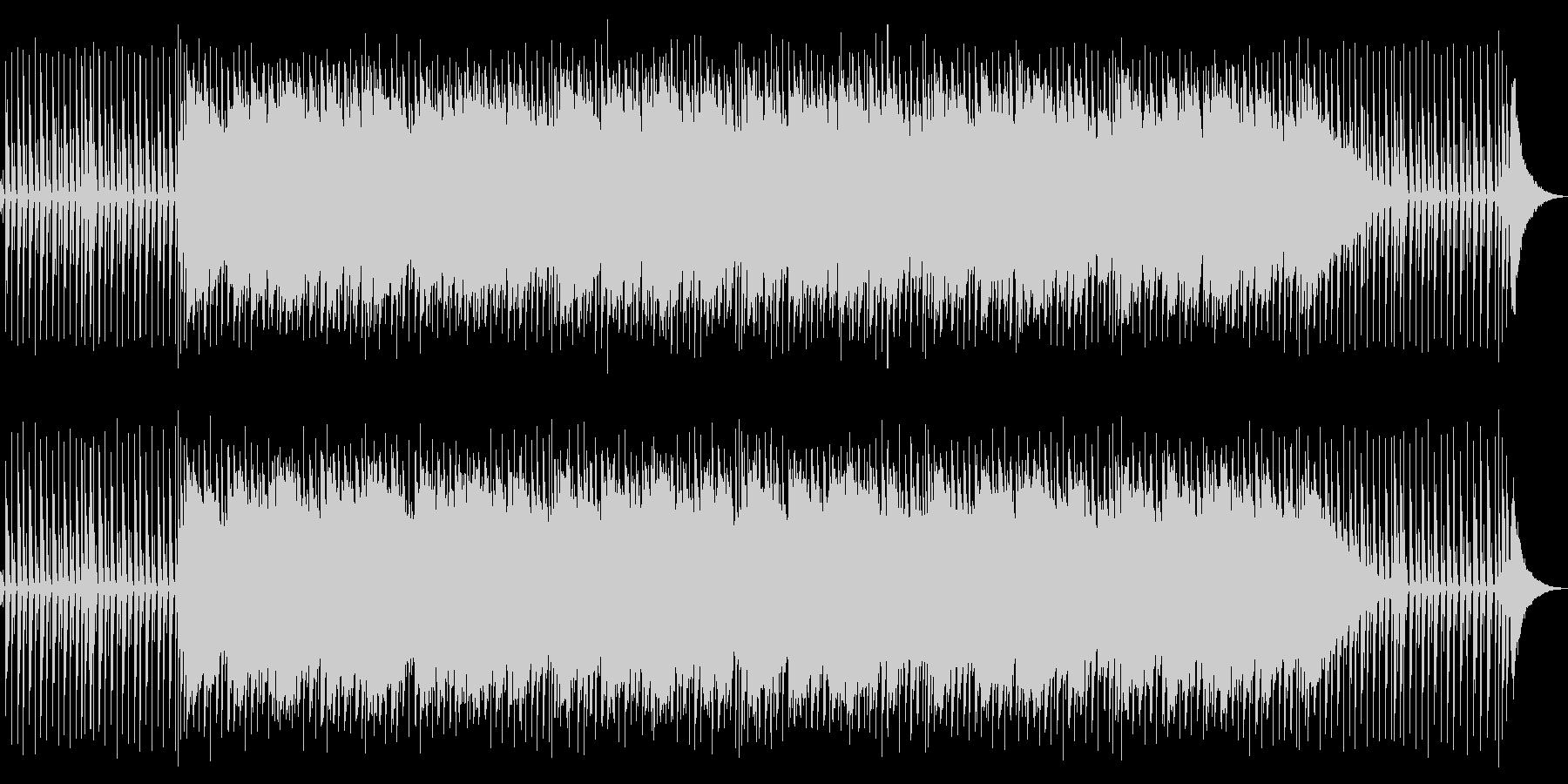 ドラムとほんわかエレピインストBGMの未再生の波形