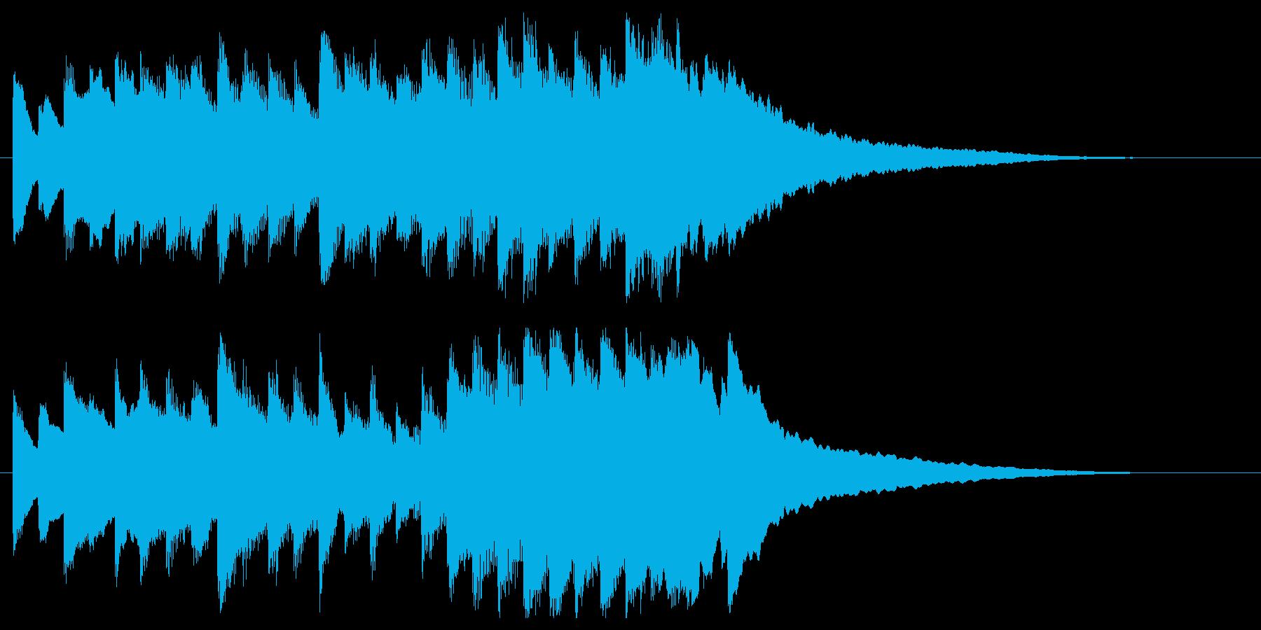 電車の発車メロディにも使えるジングルロゴの再生済みの波形