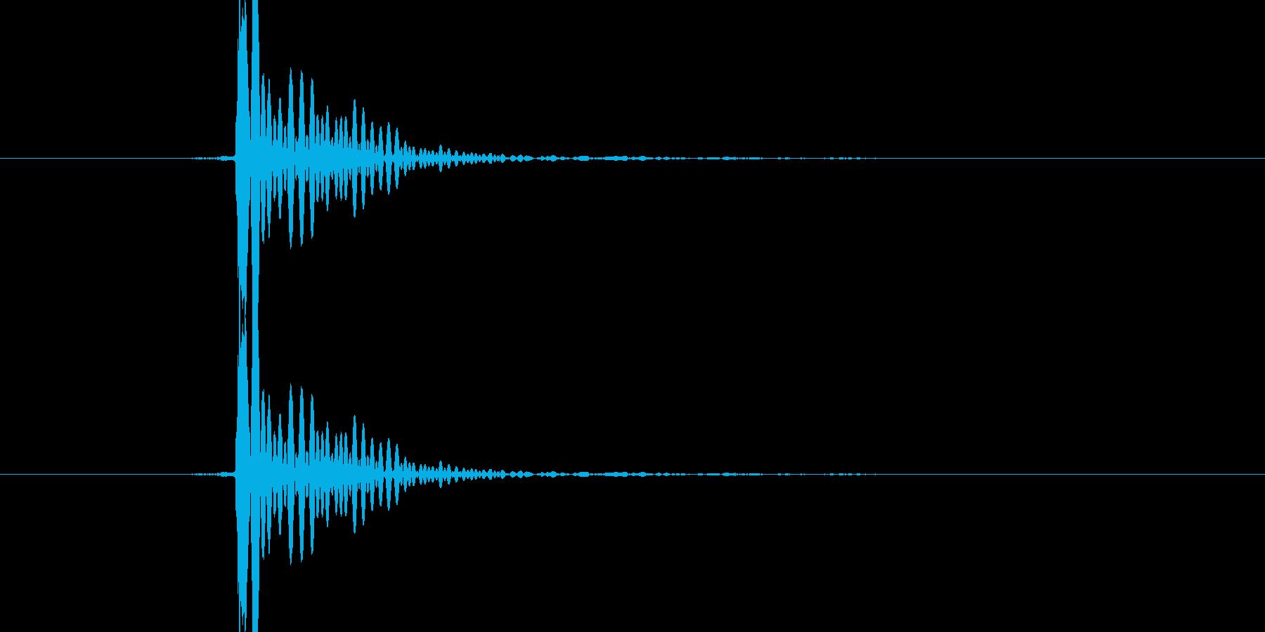 「ぽんっ」決定音や選択音、蓋を取る音等にの再生済みの波形