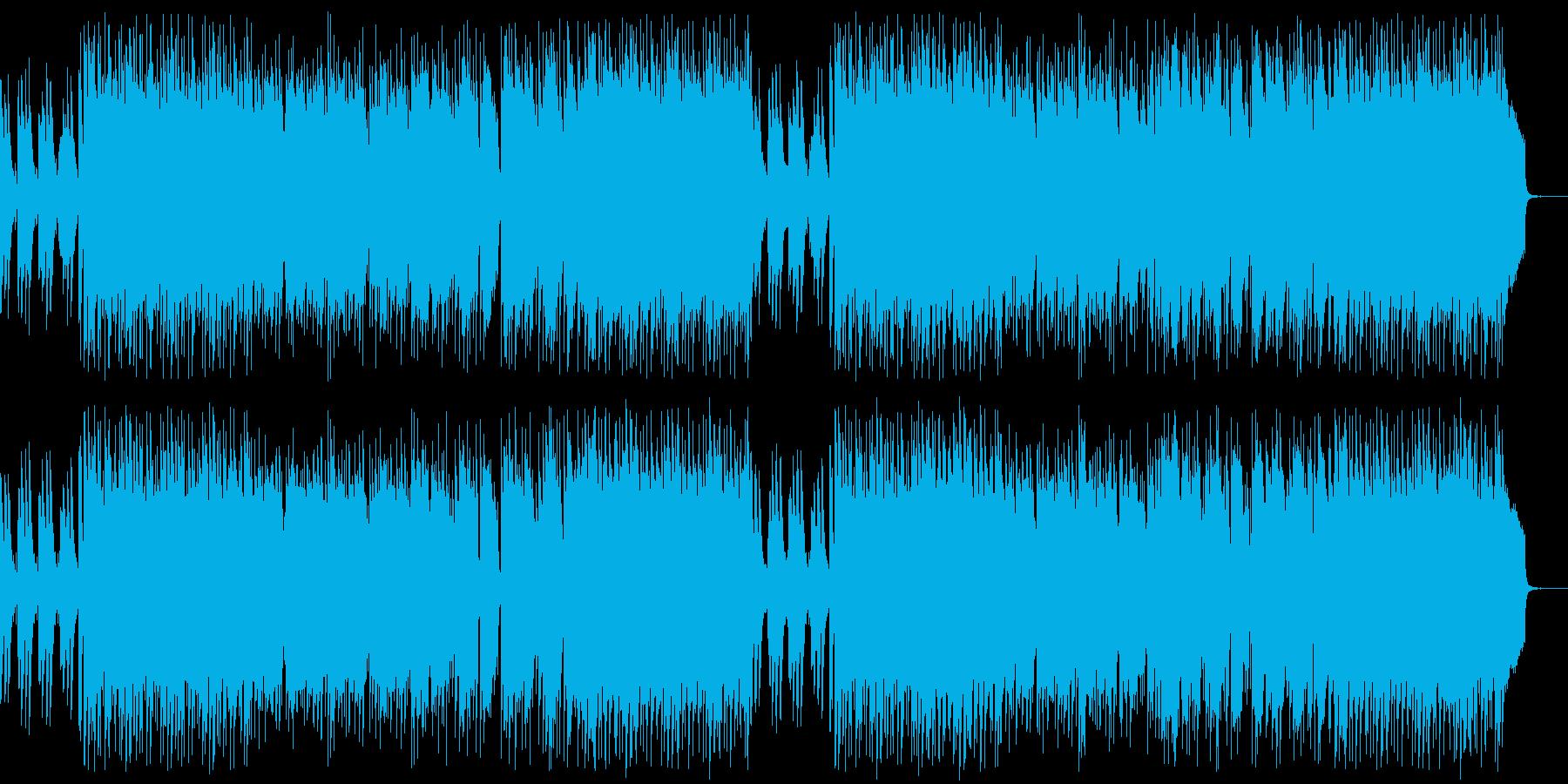哀愁感のある優雅なピアノフュージョンの再生済みの波形