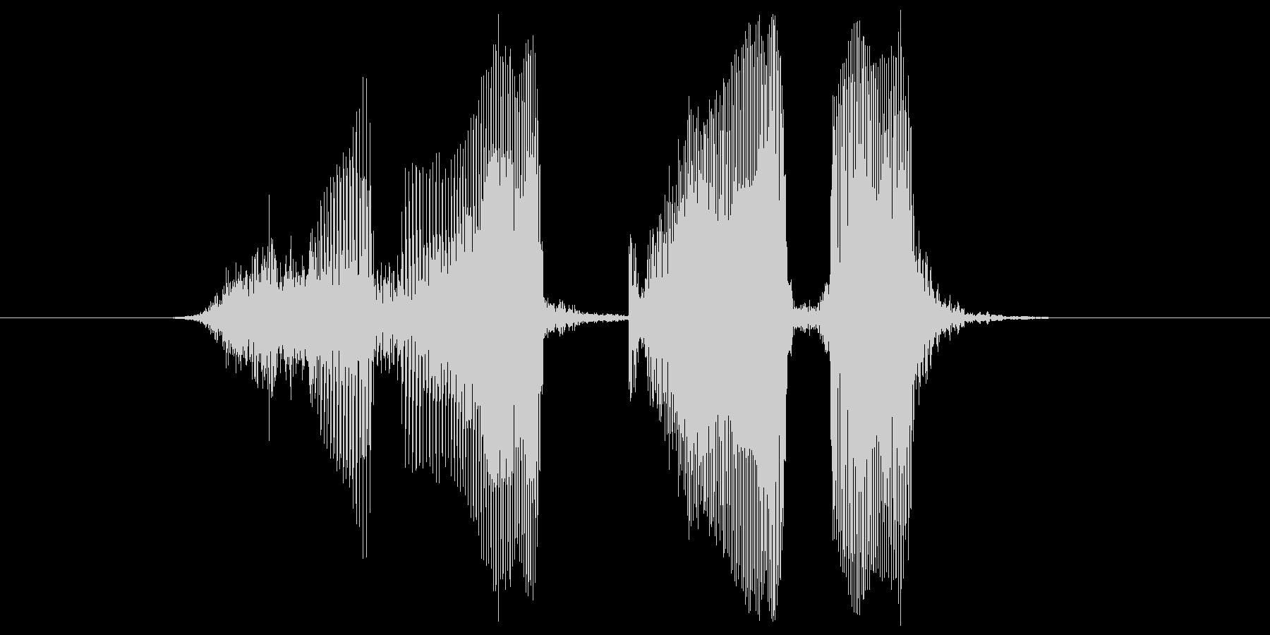 スリーカードの未再生の波形