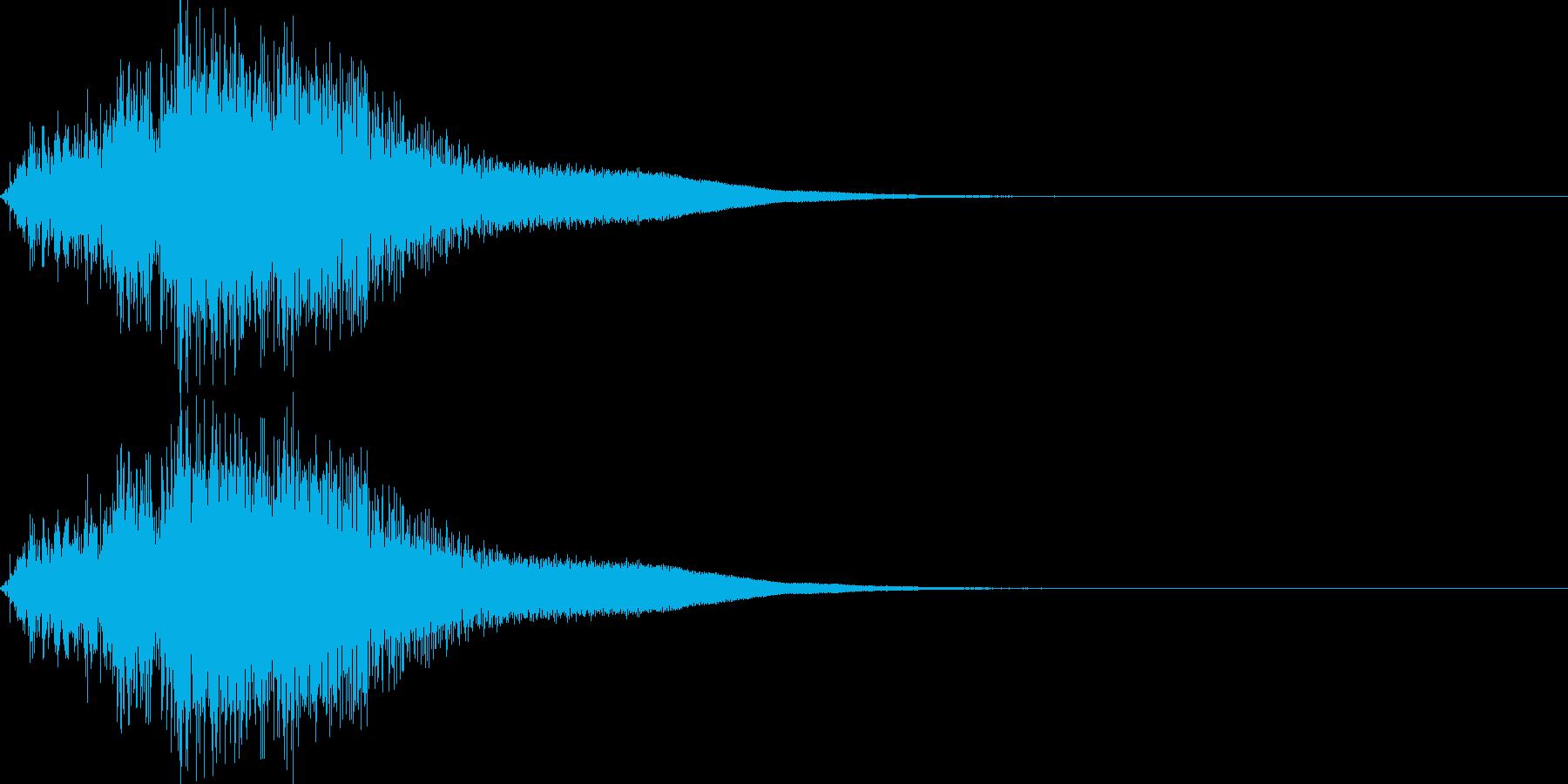 シャキーン(剣の音)の再生済みの波形