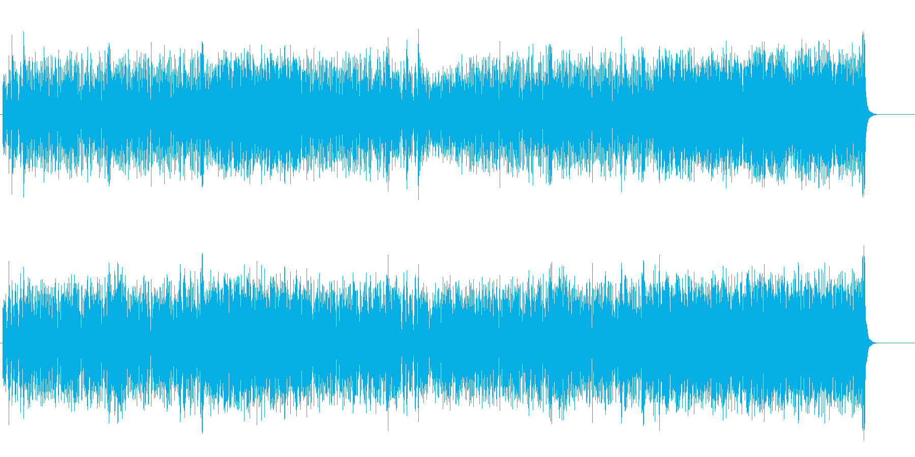 ペットと子供達のほのぼのポップ/コミカルの再生済みの波形