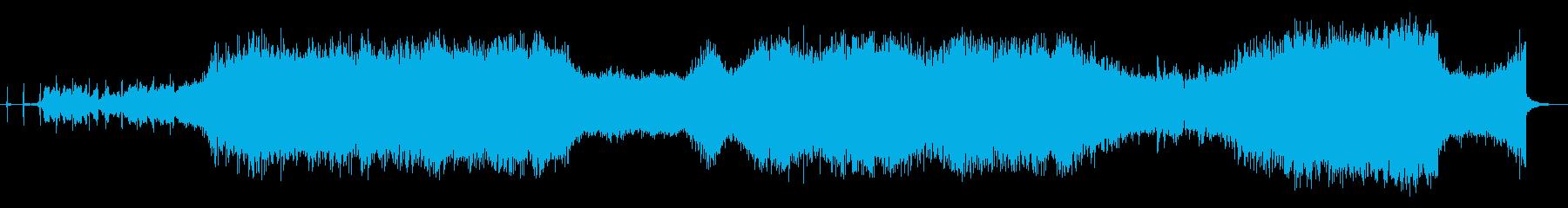 ホラー映画音楽の再生済みの波形