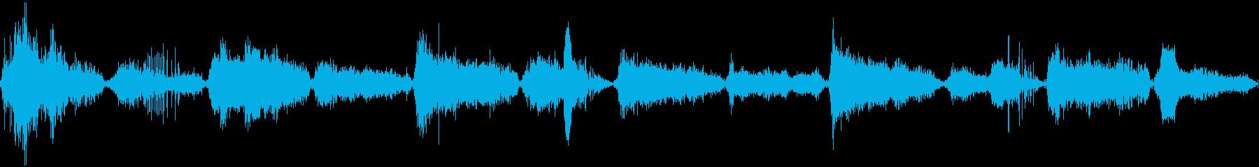 ゾンビの息遣いの再生済みの波形