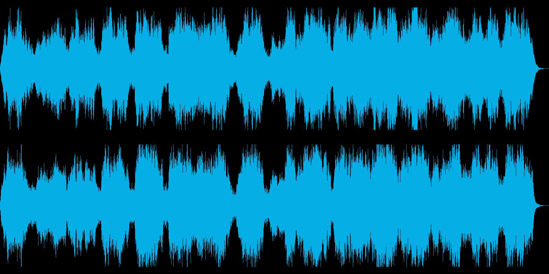 虚ろな世界をイメージしたダークなBGMの再生済みの波形