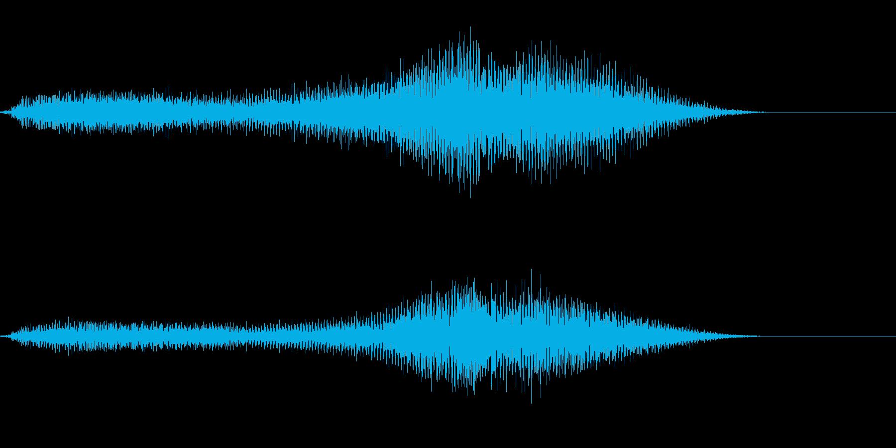 声?いや、ノイズ?(ホラーなどに)の再生済みの波形