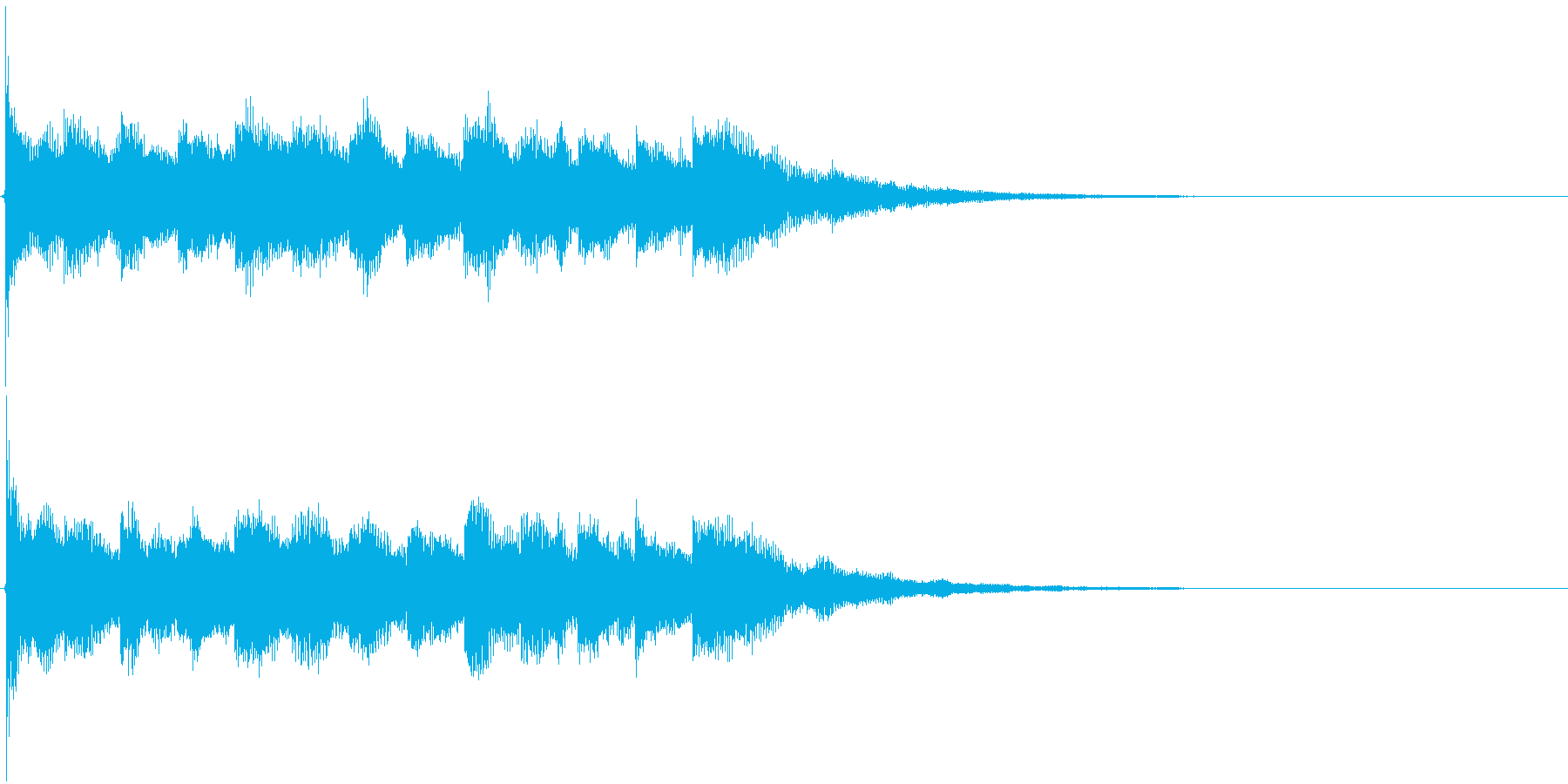 ジングル 陽気な警告音の再生済みの波形