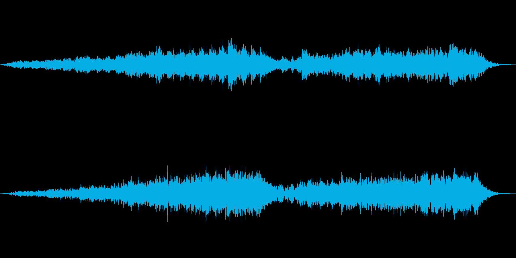 希望的な雰囲気に転じるシンプルなジングルの再生済みの波形