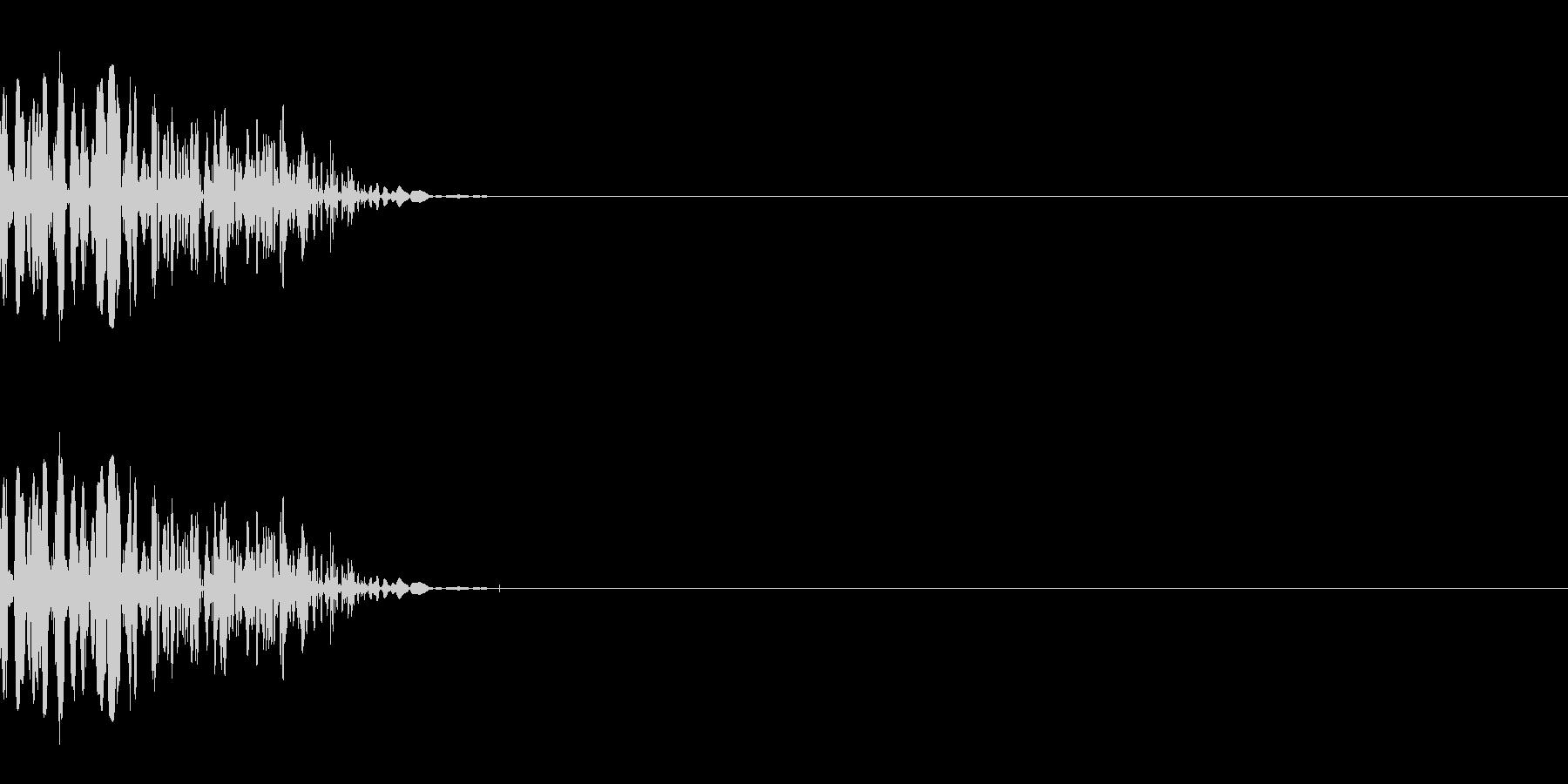 ドスッ(殴る/小攻撃/格闘)の未再生の波形