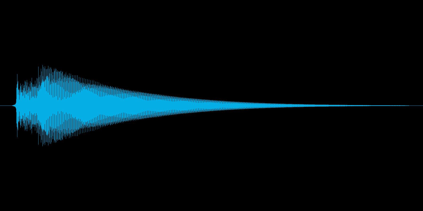 「コロンッ」スマホアプリのタッチ音想定。の再生済みの波形