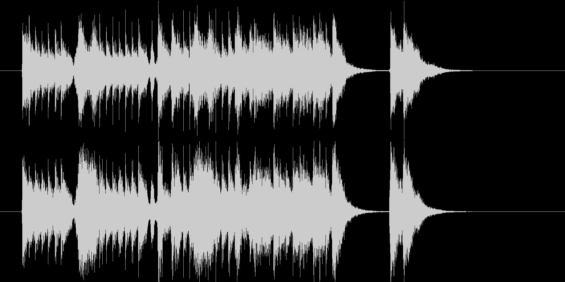 激しいジャパニーズロックの未再生の波形