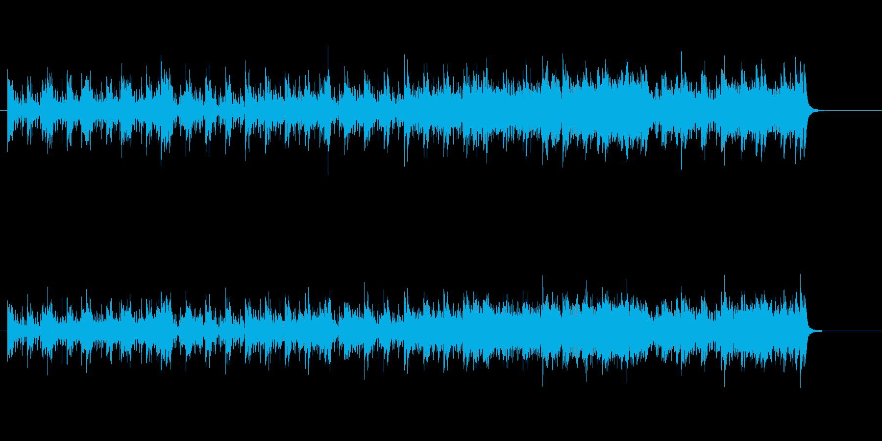 軽快なシャッフル・ビート(AOR風)の再生済みの波形