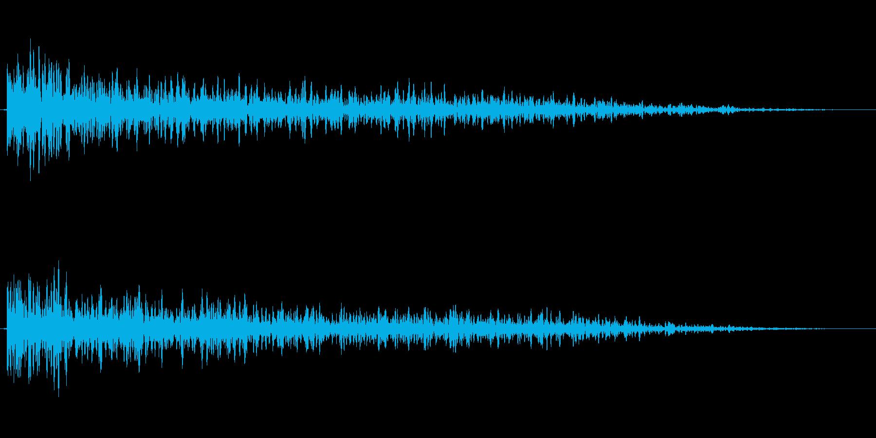 爆発/決定の再生済みの波形