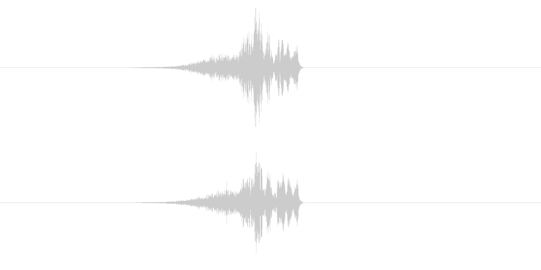 シューチュン(シューティング、ビーム)の未再生の波形