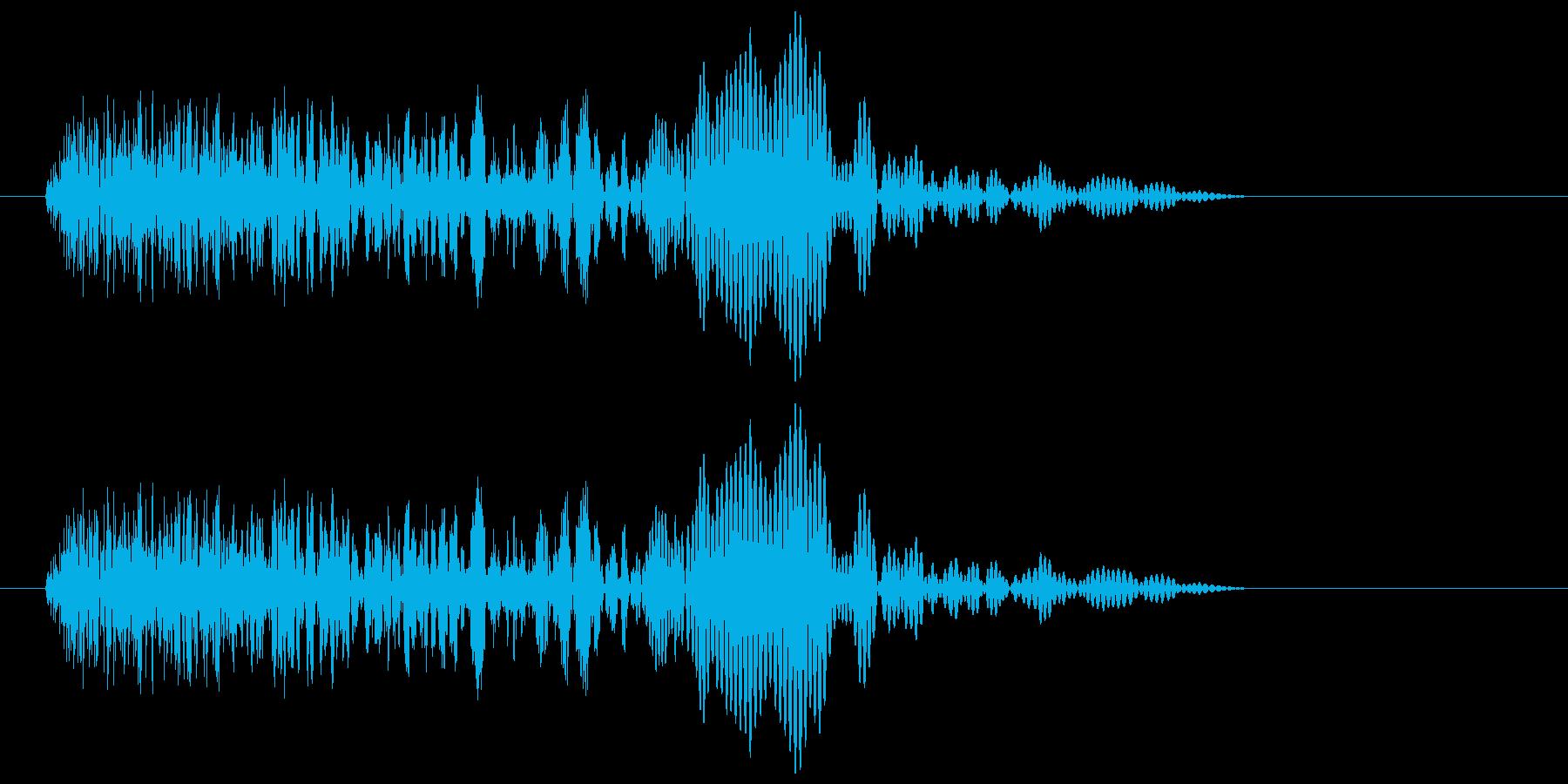 シュン(近未来のワープ音)の再生済みの波形