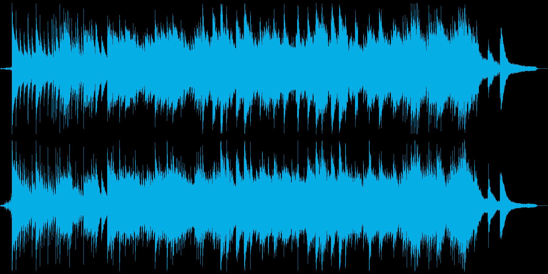 水を連想させる涼し気なピアノ曲の再生済みの波形