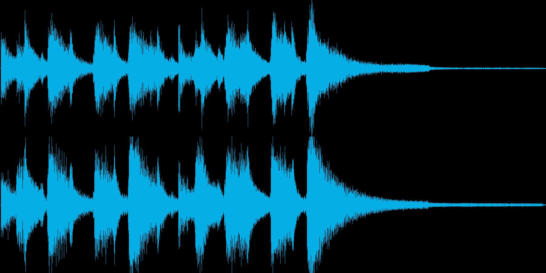 ジングル ジャズ風の再生済みの波形