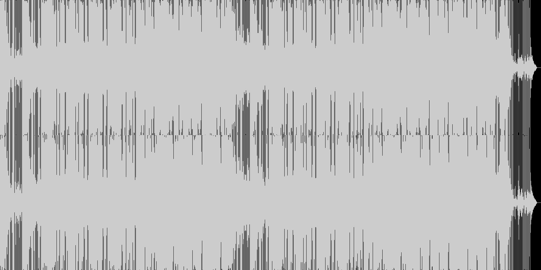 温かみのあるエレクトロニックミュージックの未再生の波形