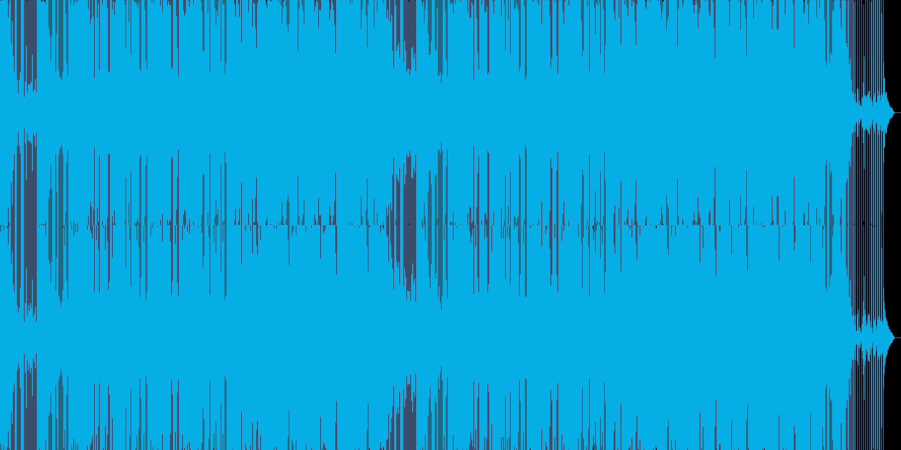 温かみのあるエレクトロニックミュージックの再生済みの波形
