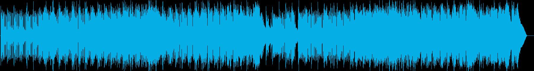 北欧の夜空にきらめく星たちのフルートの再生済みの波形