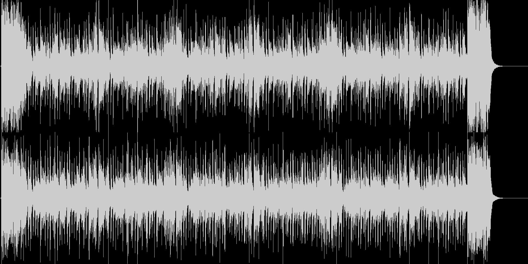 スリルを感じるファンキーソウルBGMの未再生の波形