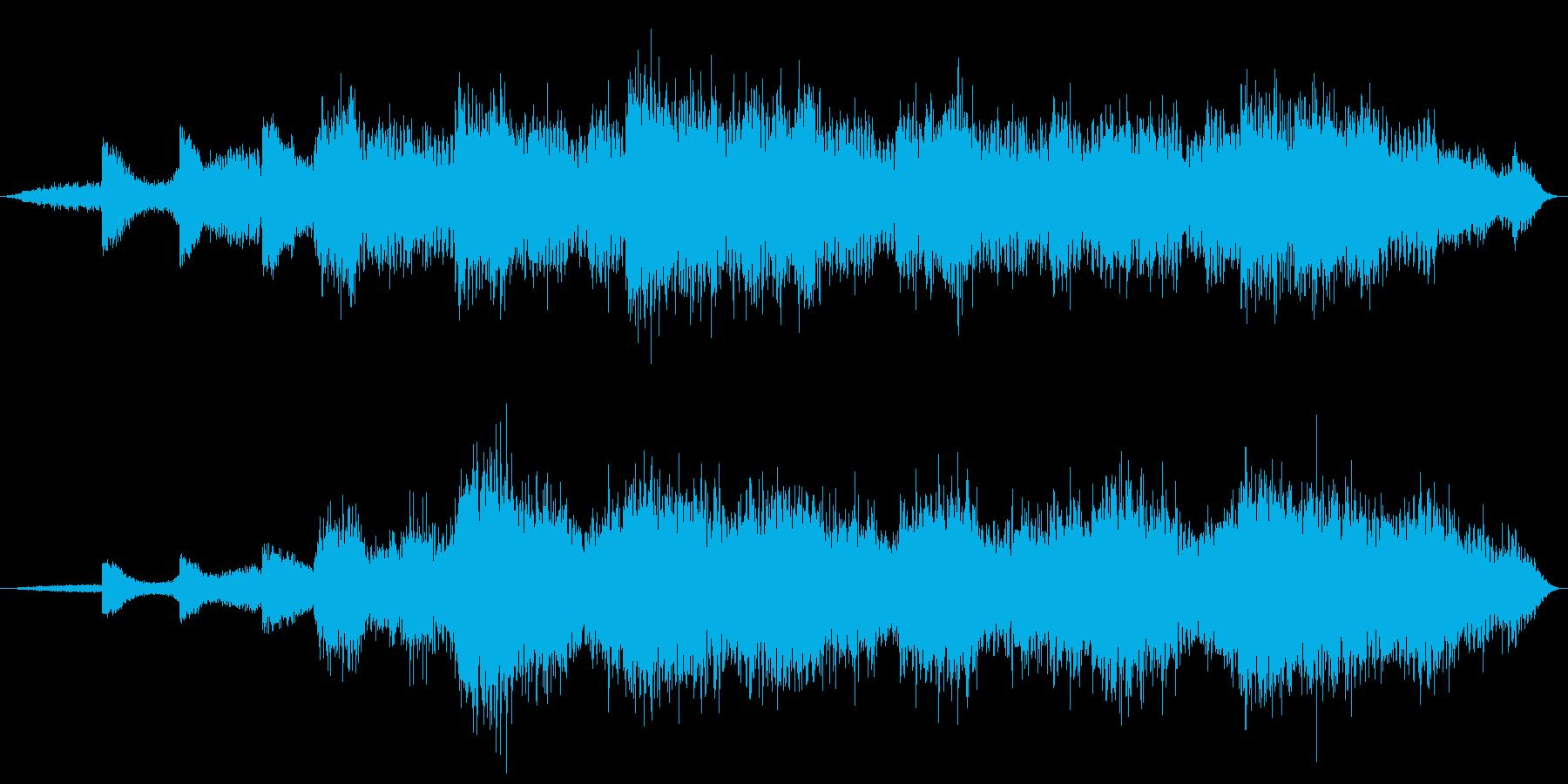 戦場イメージの効果音(タイプC)の再生済みの波形