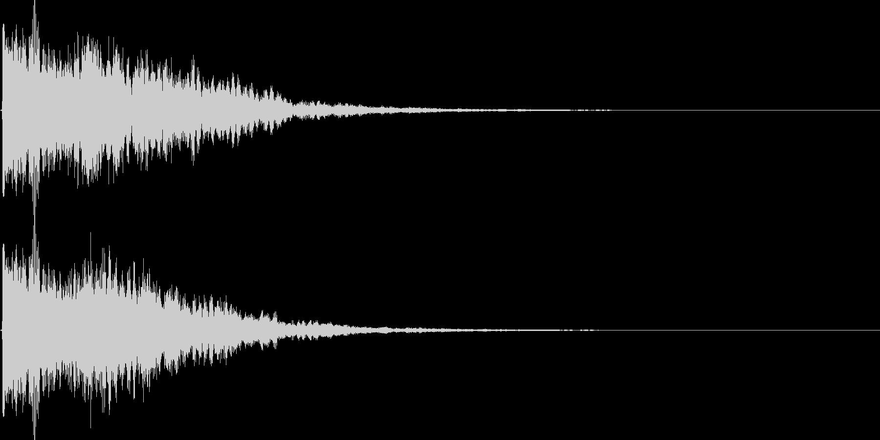 カラーン(鐘、ゲーム、アプリ、起動音等)の未再生の波形