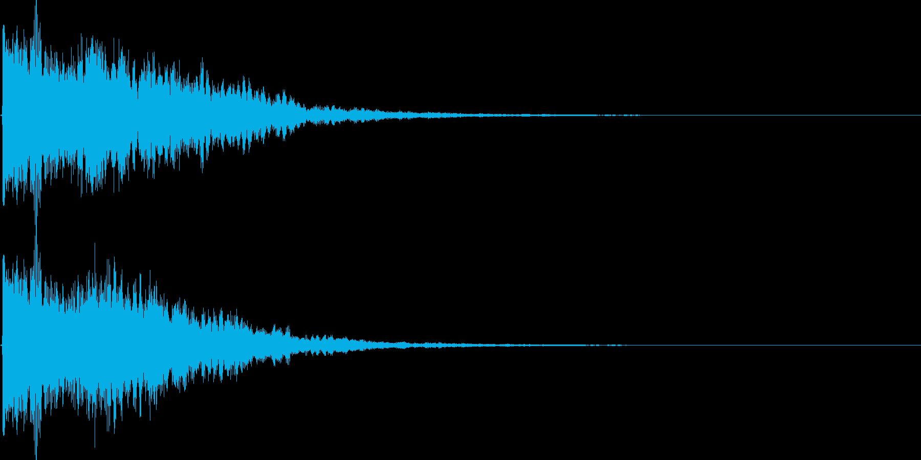 カラーン(鐘、ゲーム、アプリ、起動音等)の再生済みの波形